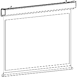 Projection Screen-Electric-DaLite-Contour Electrol-Square