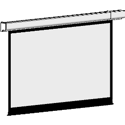 Projection Screen-Electric-DaLite-Designer Contour IR-HDTV