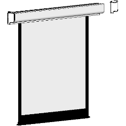 Projection Screen-Electric-DaLite-Designer Contour IR-Square