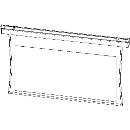 Projection Screen-Electric-DaLite-Tensioned Contour SD-Square