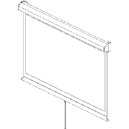 Projection Screen-Manual-DaLite-Model-C-CSR SD-16-10-Wide