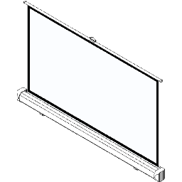 Screen-Manual-Ceiling Based-DaLite-Easy-Install w CSR-16x9 HDTV Format