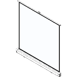 Screen-Manual-Ceiling Based-DaLite-Easy-Install w CSR Square Format