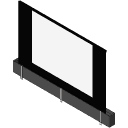 Screen Electric-DaLite-Tensioned Large Dual Masking 1.78x1.33 HDTV-to-NTSC-Video Format