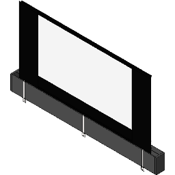 Screen Electric-DaLite-Tensioned Large Dual Masking 2.35x1.78 CinemaScope-to-HDTV Format